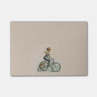 Post-it® Madame victorienne vintage Dog Bicycle