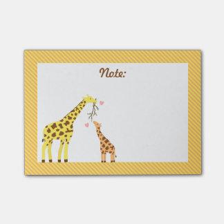 Post-it® Maman de girafe et veau colorés élégants de bébé