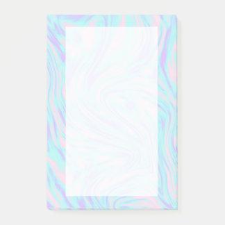 Post-it® marbre blanc pourpre bleu rose coloré élégant