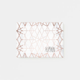 Post-it® Marbre rose de blanc d'or de triangles