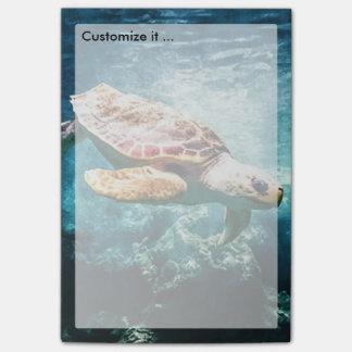 Post-it® Mer merveilleuse de turquoise de la vie d'océan de