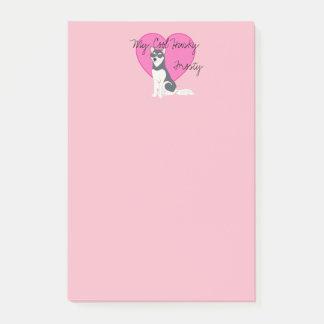 Post-it® Mon chien de traîneau de cool dans le rose