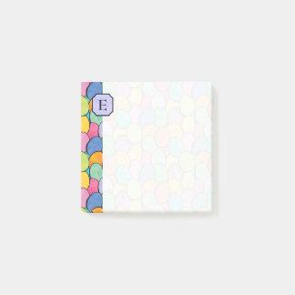 Post-it® Monogramme coloré 3x3 d'oeufs de pâques