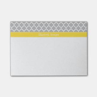 Post-it® Monogramme marocain de nom de l'ananas #5 de blanc