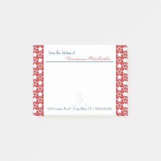 Post-it® Monogramme patriotique bleu blanc rouge de profil