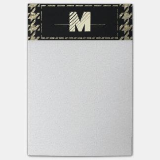 Post-it® Monogramme professionnel moderne de pied-de-poule
