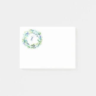 Post-it® Monogramme vert de guirlande