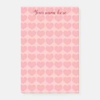 Post-it® Motif assez rose de coeur
