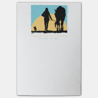 Post-it® Motif coloré de cheval
