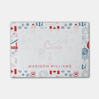 Post-it® Motif de symboles du Canada  