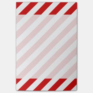 Post-it® Motif diagonal rouge et blanc de rayures