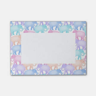Post-it® Motif en pastel mignon et coloré d'éléphant