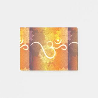 Post-it® Motif indien d'ornement avec le symbole d'ohm