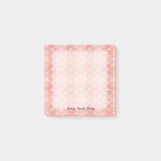 Post-it® Motif rose de Traingle de feuille d'or de Faux