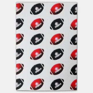 Post-it® Motif rouge et noir du football
