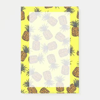 Post-it® motif tropical peint à la main coloré d'ananas