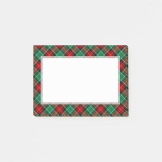 Post-it® Motif vert rouge Stickies de plaid de vacances
