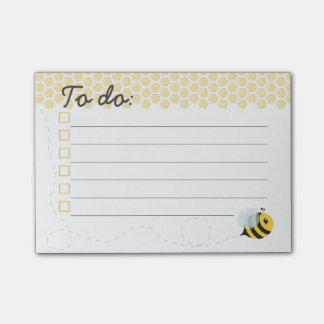 Post-it® Nid d'abeilles jaune mignon d'abeille de miel de