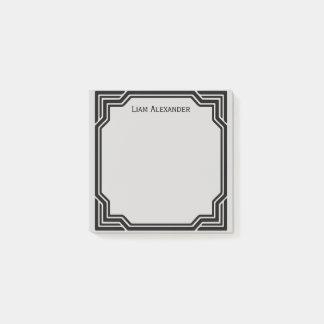 Post-it® Noir et gris a encadré la frontière classique  