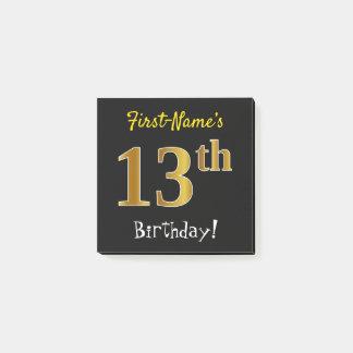 Post-it® Noircissez, anniversaire d'or de Faux le 13ème,