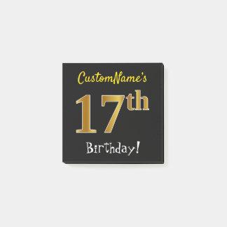 Post-it® Noircissez, anniversaire d'or de Faux le 17ème,