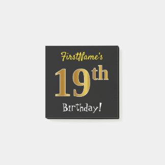 Post-it® Noircissez, anniversaire d'or de Faux le 19ème,