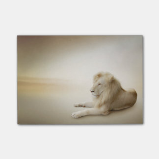 Post-it® Notes blanches de Courrier-it® de lion