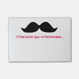 Post-it® Notes collantes de note de moustache