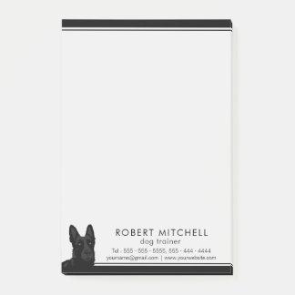 Post-it® Notes de Courrier-it® de berger allemand de noir