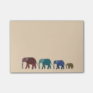 Post-it® Notes de Courrier-it® d'éléphants africains