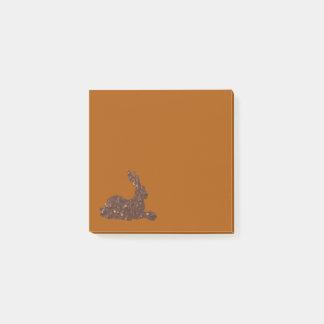Post-it® Notes de lapin de chocolat de Brown