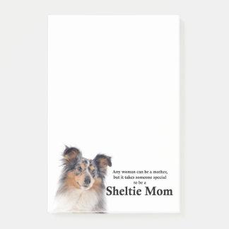 Post-it® Notes de post-it bleues de maman de Merle Sheltie