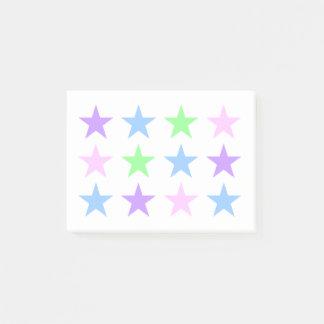 Post-it® Notes de post-it colorées d'étoiles