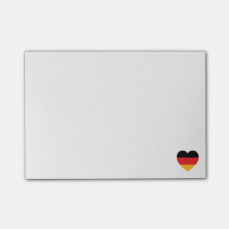 Post-it® Notes de post-it de coeur de drapeau de