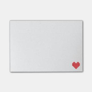 Post-it® Notes de post-it de coeur de pixel