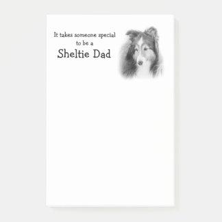 Post-it® Notes de post-it de papa de Sheltie
