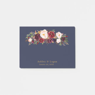 Post-it® Notes de post-it florales élégantes de mariage de