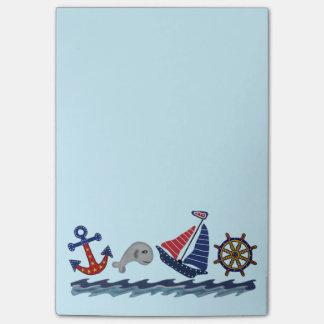 Post-it® Notes de post-it nautiques de motif