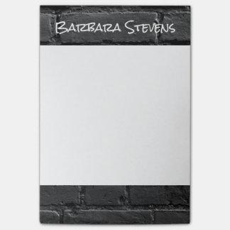 Post-it® Notes de post-it noires et blanches de la brique