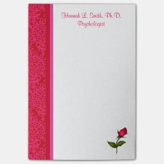 Post-it® Notes de post-it roses de remous rouges et roses