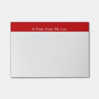Post-it® Notes de post-it rouges faites sur commande