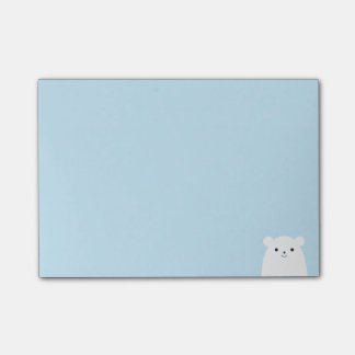 Post-it® Notes de post-it semi-transparentes d'ours blanc