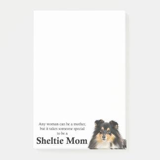 Post-it® Notes de post-it tricolores de maman de Sheltie