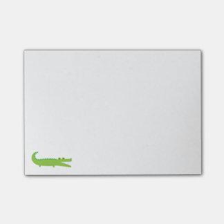 Post-it® Notes de post-it vertes d'alligator