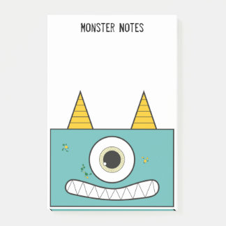 Post-it® Notes de post-it vertes de monstre