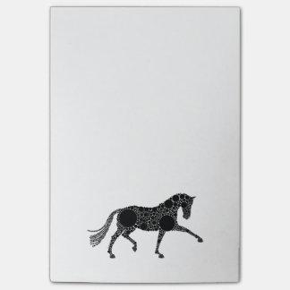 Post-it® Notes d'entrée de marque de cheval de dressage