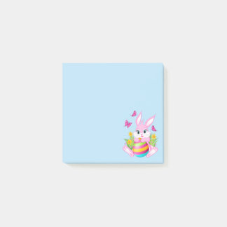 Post-it® Notes roses de Courrier-it® de lapin de Pâques
