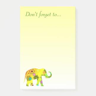 Post-it® N'oubliez pas… avec le bel éléphant