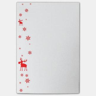Post-it® Orignaux rouges et flocons de neige rouges - notes