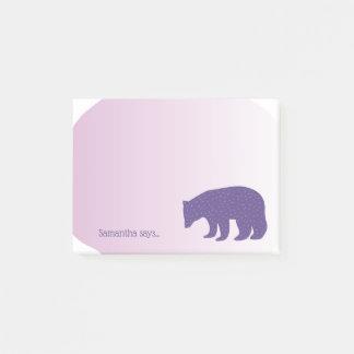 Post-it® Ours scandinave pourpre ultra-violet à la mode de